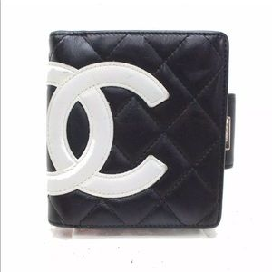 Chanel Wallet Cambon Black Lamb Skin